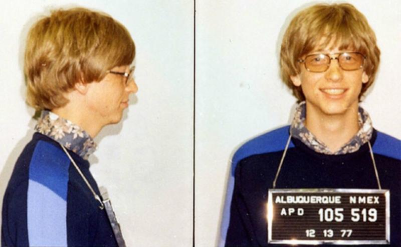Билл Гейтс  в полиции