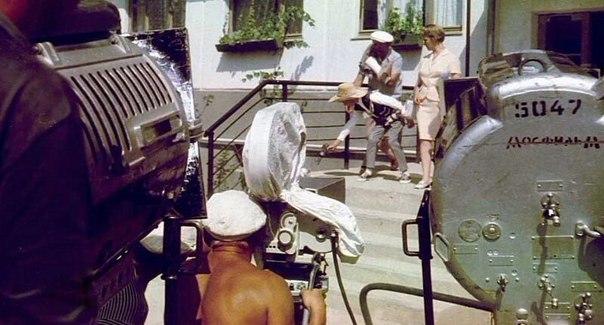На съемках фильма Бриллиантовая рука, 1968 г.