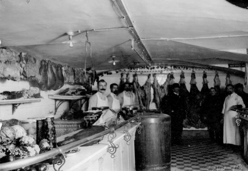 Мясо-овощной отдел магазина