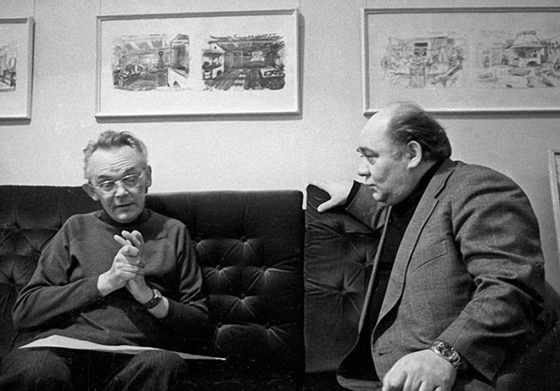 Леонид Гайдай и Евгений Леонов, 1979