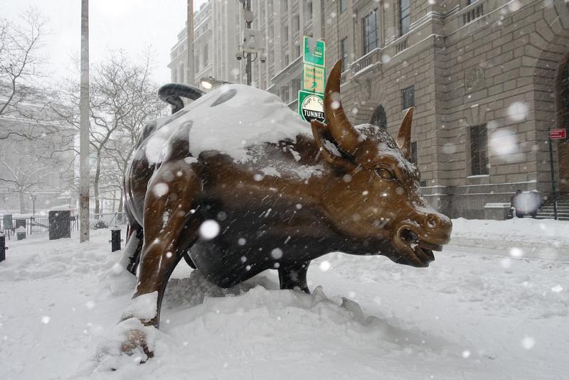 Снегопад в Нью-Йорке 23.01.2016